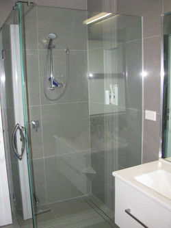 Shower with recess and channel drain