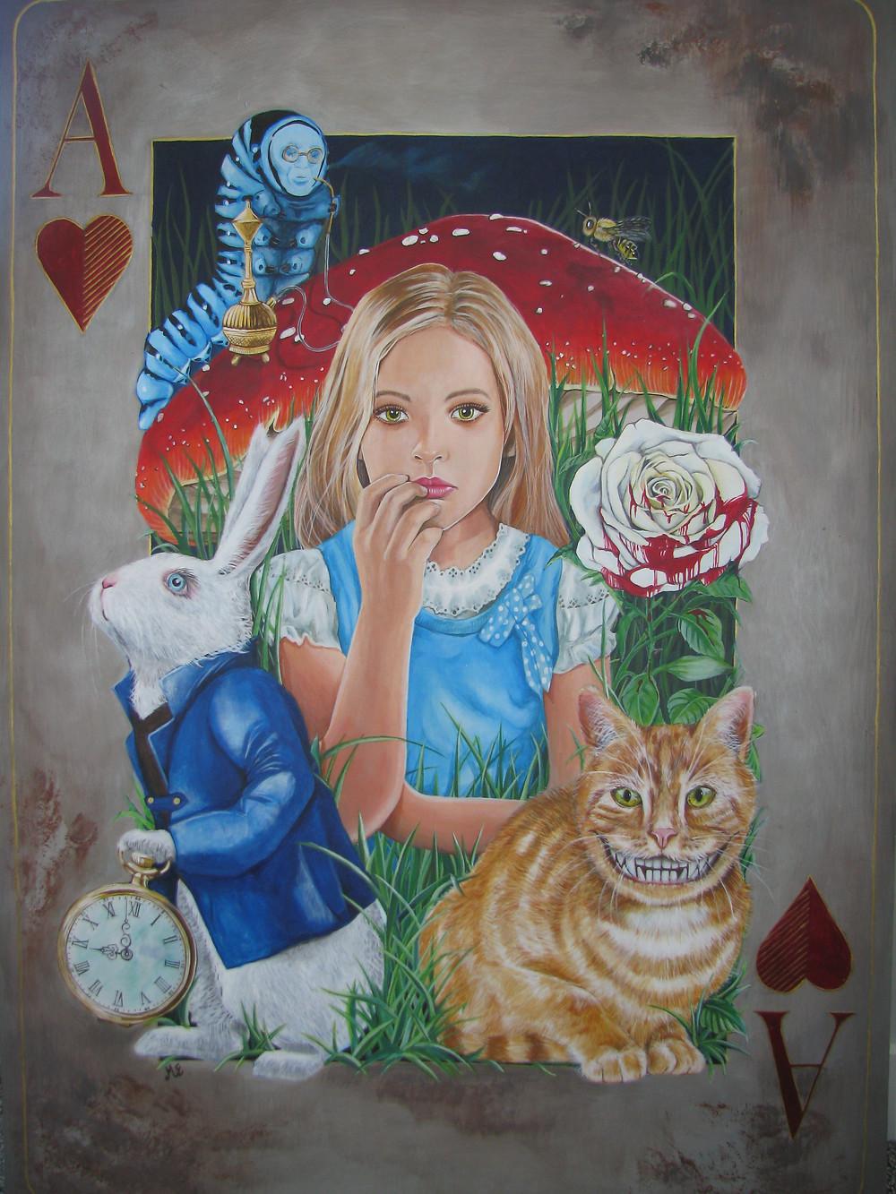 'Wonderland' Acrylic on ply