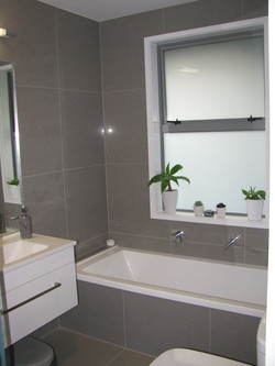 Bathroom tiling.