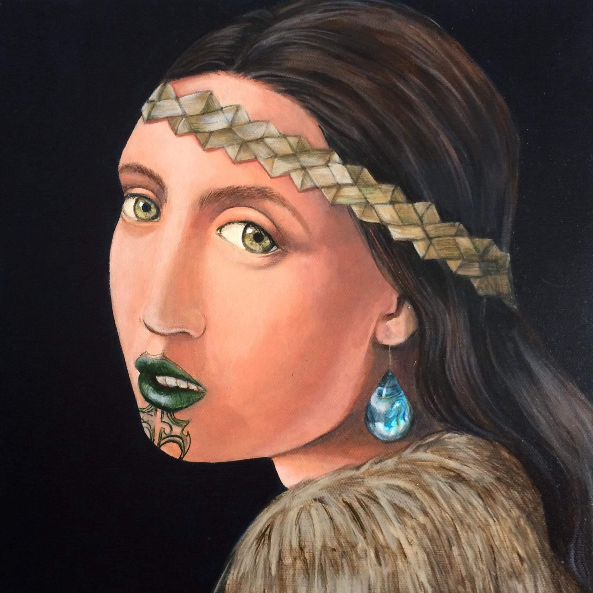Girl With The Paua Earring 2