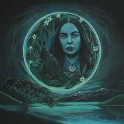 Rona and the Moon    SOLD