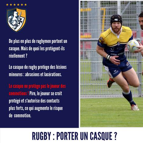 Le port du casque au Rugby