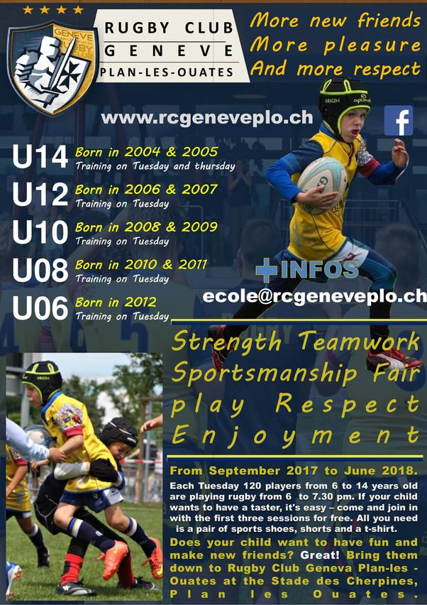 Rugby Geneva kids