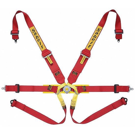 "Harness 6-point, 3/2"" Shoulder Strap, 2"" Lap Strap"