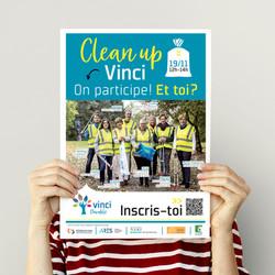 Affiche Clean-up Vinci