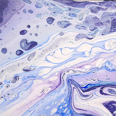 Purple Acrylic Pour