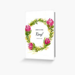 Christmas Card Born is the King