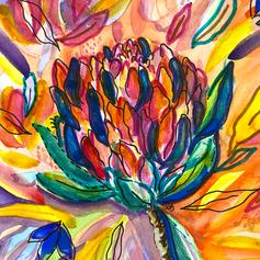 Vibrant Protea