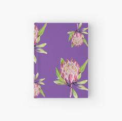 Purple Protea Hardcover Journal