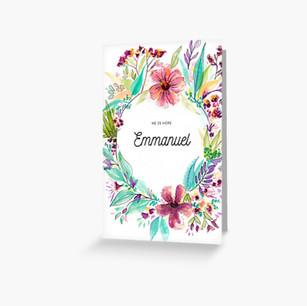 Christmas Card Emmanuel