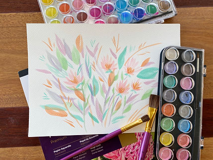 Bunch of Flowers metallic paint.jpg