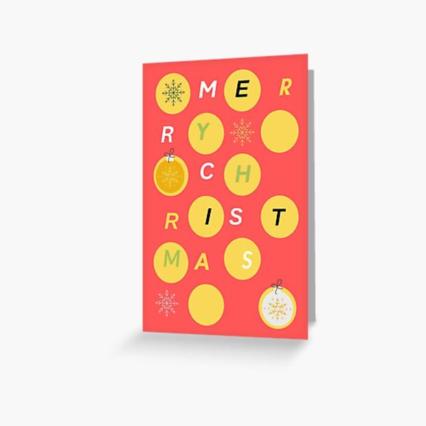 Merry Christmas Card Terracotta