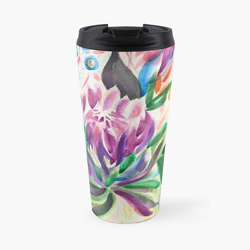 Mum's Vibrant Bouquet Travel Mug