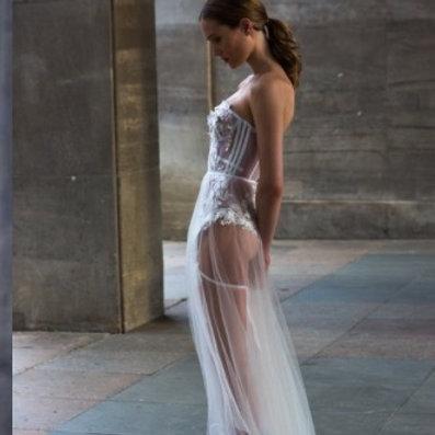 Bodysuit Sheer Dress