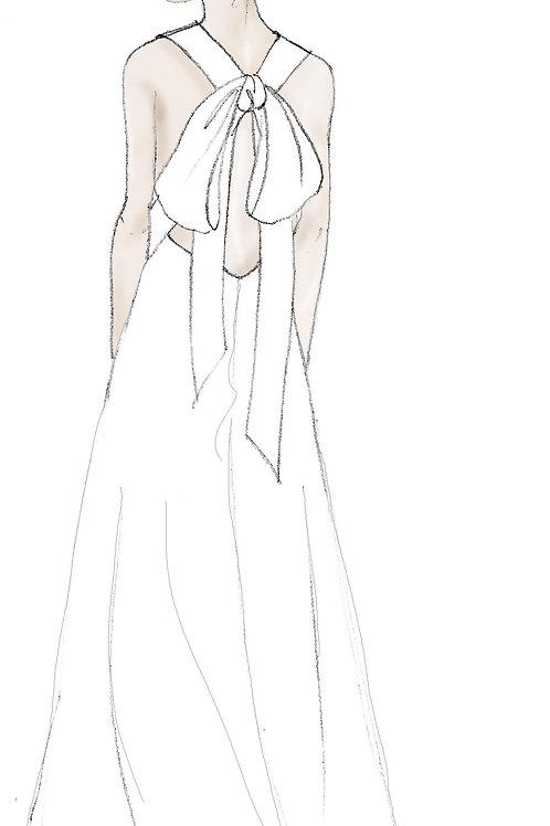 Bow Back Trapeze Dress