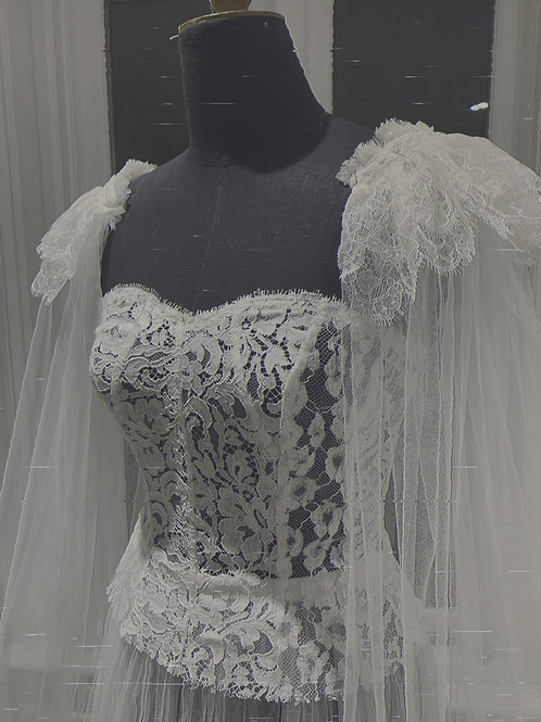 Aster Mix French Lace Panel Bodice