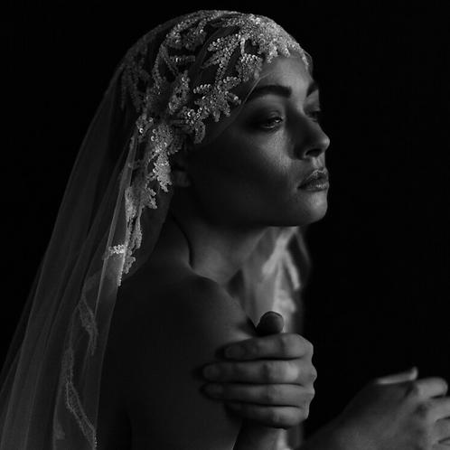 Arley crystal tulle veil