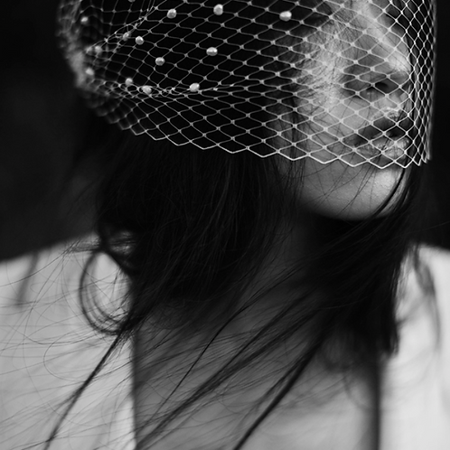 Pearl Caged Veil