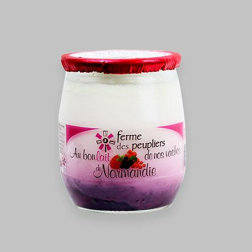 Yoghurt French - mix fruit 12 Glass Jar by 125 g each