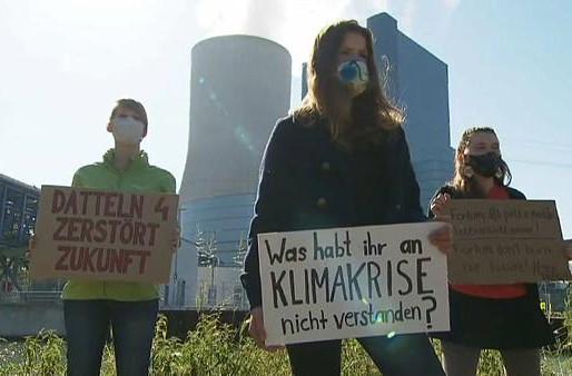 Fue una bofetada para los jóvenes ambientalistas, abrir la central eléctrica DattelN4, en Alemania