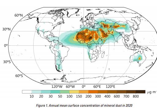 Polvo del Sahara pasará sobre Yucatán y el Golfo de México