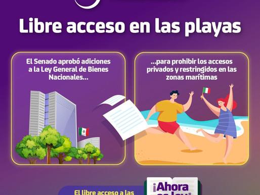 Garantizan libre acceso a las playas