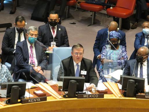 Enfrentar el cambio climático, pide Ebrard al sistema multilateral de la ONU