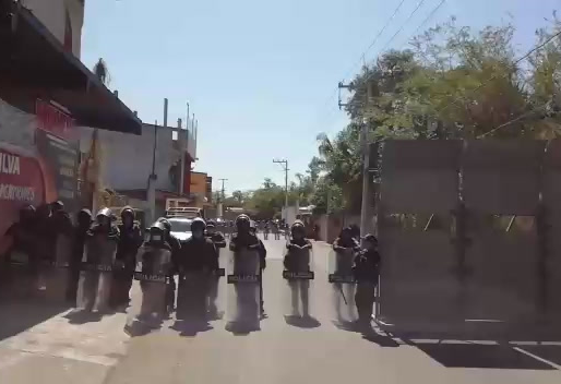 Desaloja la Guardia Nacional a opositores a la termo, en Morelos