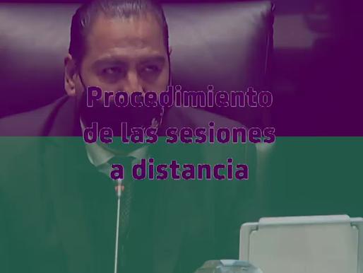 Conoce los procedimientos para las sesiones a distancia en el Senado