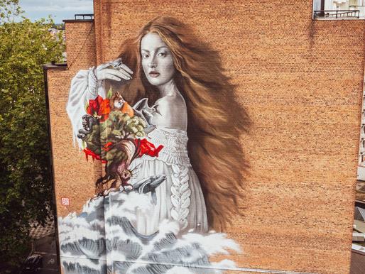 Mural en Bélgica envía mensaje de esperanza a los ecosistemas