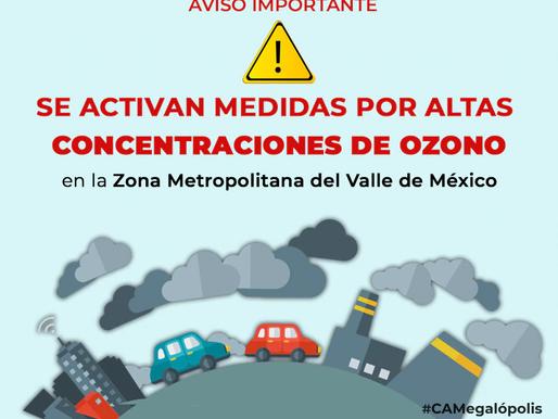 Activan contingencia por altas concentraciones de ozono