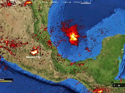 Gobierno no informa el daño ambiental causado por el incendio en el Golfo de México