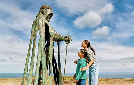 Tintagel Castle Statue