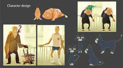 Life Goes On Character Design