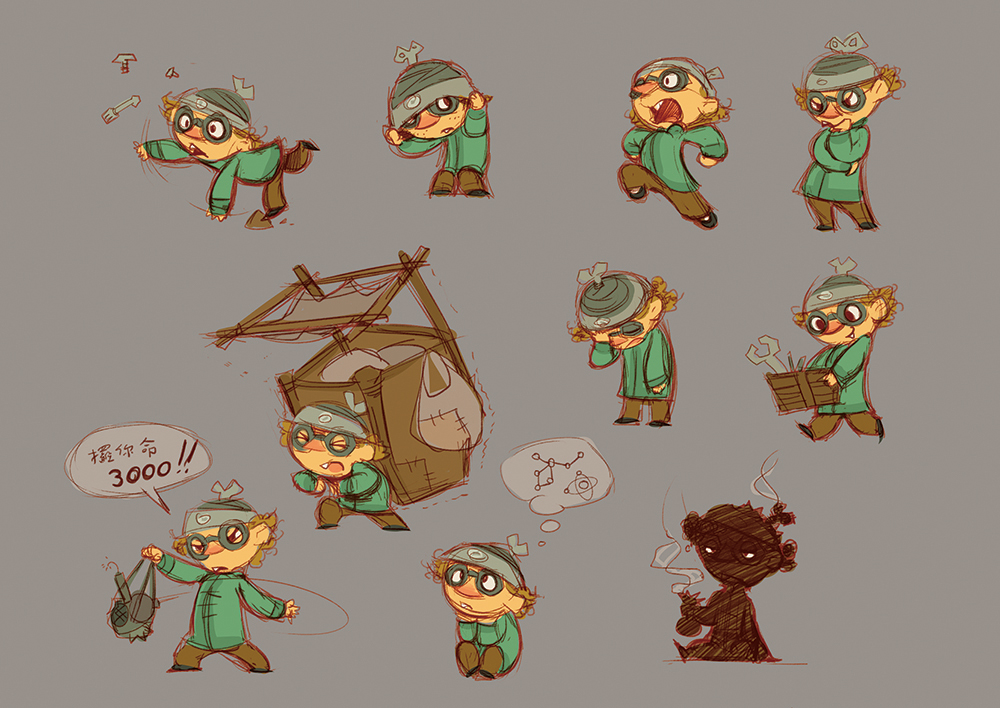 Kung Fu Kids Character Design
