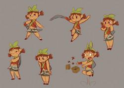Kung Fu Kids Character Design