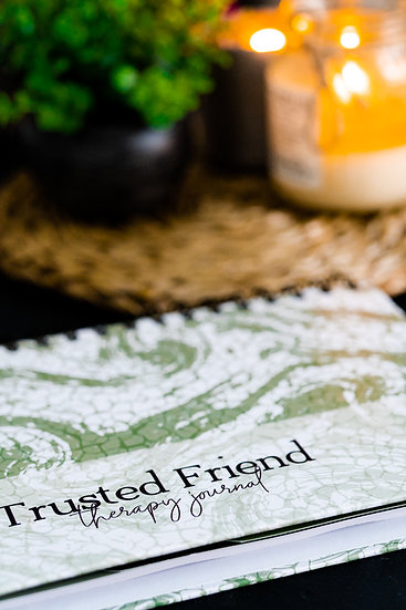 Trusted Friend Therapy Journal (Olive)