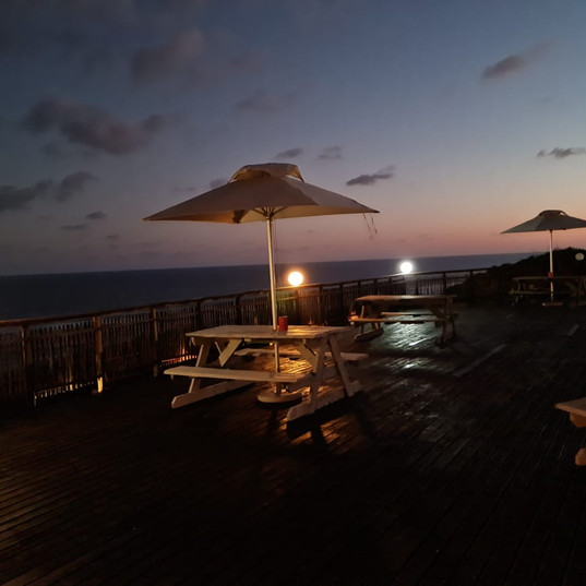 a beautiful view of our deck.