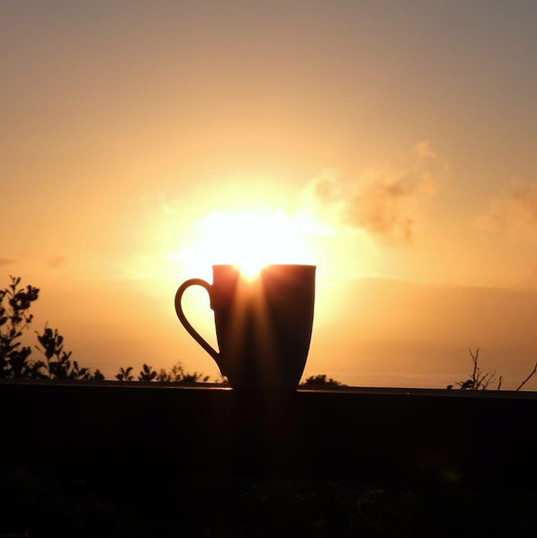 Beautiful Sunset Coffee cup view.