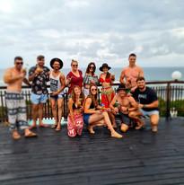 Clients having fun at Sunset Beach Resort