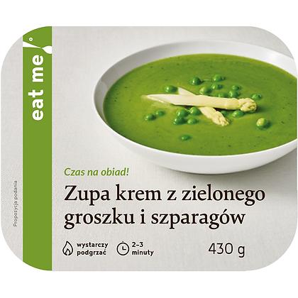Zupa krem z zielonego groszku i szparagów