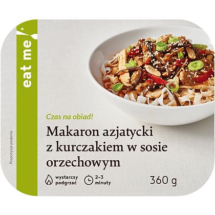 Makaron azjatycki z kurczakiem w sosie orzechowym