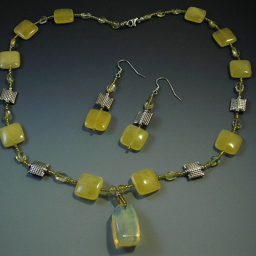 Ambronite Necklace and Earring Set