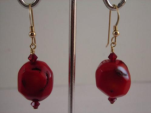 Coral Gemstone Earrings