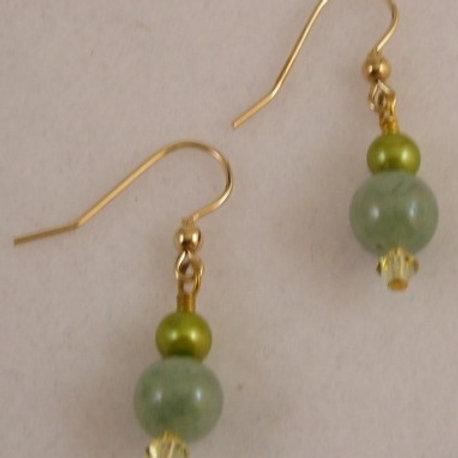 Jade Gemstone Earrings