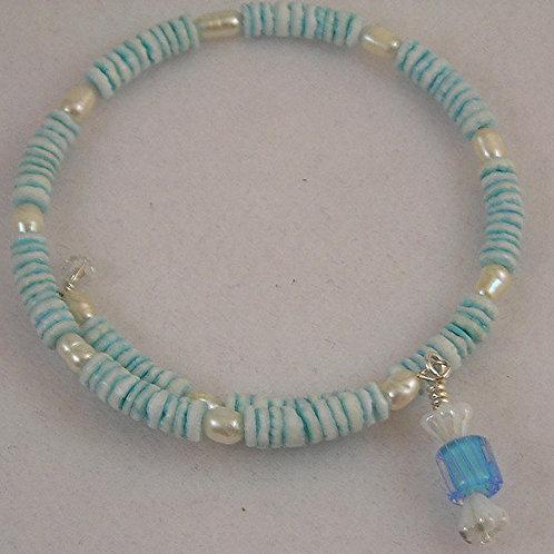 Shell beads Bracelet & Earring Set. #B3619