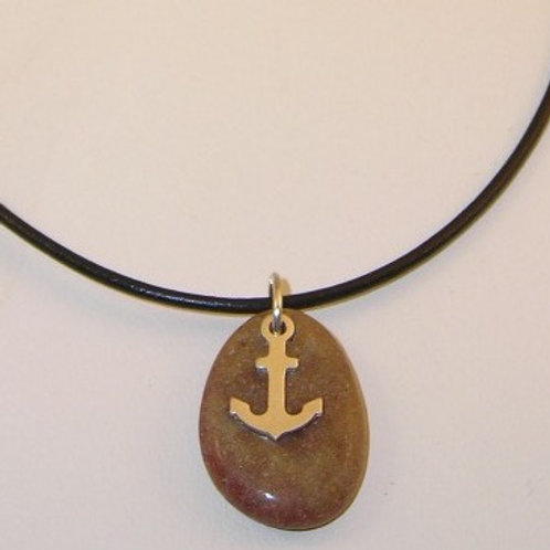 Pebble & Anchor Necklace. Item #N160