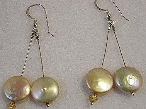 freshwater pearls Long Earrings: #E3426