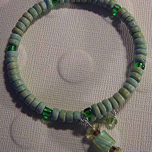 Wood beads Bracelet & Earring Set. #B3146