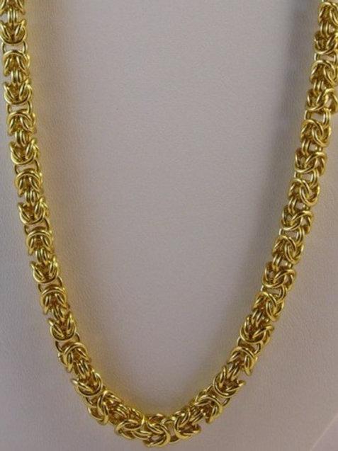 Byzantine Weave Necklace Gold Plated